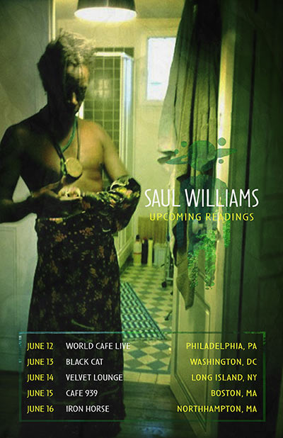 Saul Williams Upcoming Readings